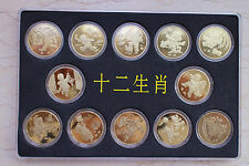 China 2003-2014 Chinese Lunar Years - Complete 12 coins (Each 1 Yuan)