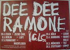 DEE DEE RAMONE CONCERT TOUR POSTER 1993 RAMONES