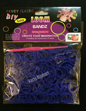 New 300pcs Dark Blue Color Loom Band Rubber band +Free S-Clips &Hooks- Aus Stock