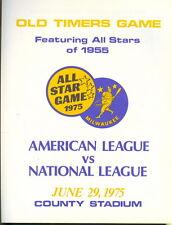 1975 Milwaukee Brewers Old Timer Game Program Hank Aaron/Willie Mays/Ernie Banks