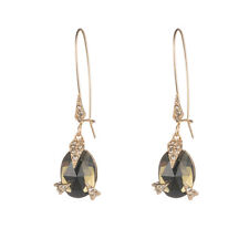 Alexis Bittar Olive Crystal Encrusted Mosaic Futuristic Gold Drop Earrings $175