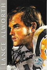 "LANCE ALWORTH SIGNED ""SIGNATURE SERIES"" CARD~PRO FOOTBALL HALL OF FAME~HOF AUTO"