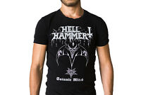 Hellhammer Satanic Rites 1983 Bat Logo Album Cover T-Shirt