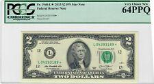 Fr 1940-L* 2013 $2 FW Star Note San Francisco PCGS 64PPQ Very Choice New