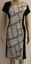 Millers Dress Size 14 Ladies Black Grey Geometric Print Stretch RRP