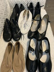 Girl's 4 Dance Shoes Girls Lot