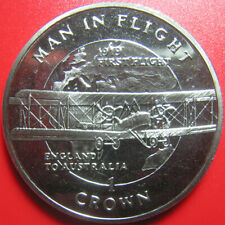 1994 ISLE OF MAN 1 CROWN BIPLANE ENGLAND AUSTRALIA PLANE FLIGHT 1919 (no silver)