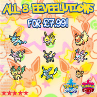 ALL 8 6IV Shiny Eeveelutions | EEVEE Evolutions | Pokemon Sword & Shield + Ditto