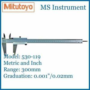 """Mitutoyo 530-119 Standard Vernier Caliper 300mm 12"""""""