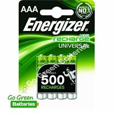 4 x Energizer AAA Rechargeable Batteries 700 mAh NiMH LR03 HR03 Dect Phone Solar