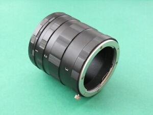 Macro Extension Tube Ring Set Four Thirds 4/3 for Olympus E-620 E-600 E-510 E-5