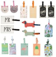 Floral Travel Luggage Tag Suitcase Label ID Address  Holiday Tags qa