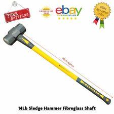 14lb Sledge Hammer Fibreglass Shaft Steel Heavy Duty Professional