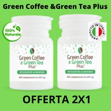 GREEN COFFEE & GREEN TEA PLUS Caffè verde e The Verde TERMOGENICO BRUCIA GRASSI