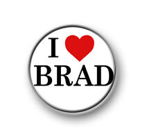 "I LOVE / HEART BRAD / 1"" / 25mm pin button / badge / band / pop rock / The Vamps"