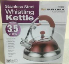 RRD 3.5 LITRE FAST BOIL STAINLESS STEEL WHISTLING KETTLE for GAS ELECTRIC HOBS