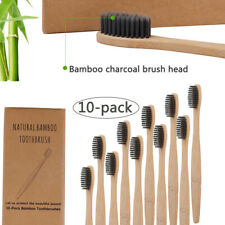 Bamboo Charcoal Toothbrush Eco Friendly Soft Bristles (Pack of 10) Travel Tools