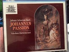 "J.S. Bach ""Johannes Passion Nikolaus Harnoncourt - 2 CD Box & Book - LIKE NEW!"