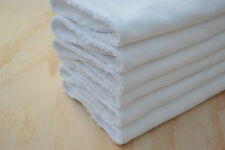 Baby Burp Cloth, Toweling Back- Plain White, set of 6- Flannelette
