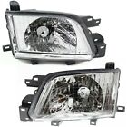 Headlight Set For 2001-2002 Subaru Forester Left and Right With Bulb 2Pc