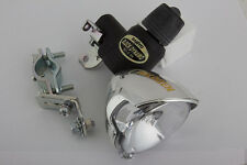 Bicycle Headlight Sanyo Dynamo Generator Halogen Chrome Finish 6V/2.4W NEW Light