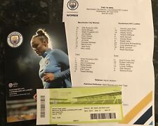 MAN CITY WOMENS V SUNDERLAND LADIES 18.04.2018 PROGRAMME + TEAMSHEET + TICKET