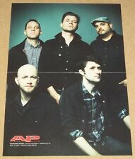 Taking Back Sunday 2011 centerfold poster + Title Fight band live onstage 2010