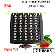 50pcs/lot 3w full spectrum 400nm~840nm led grow chip ,45mil bridgelux no pcb