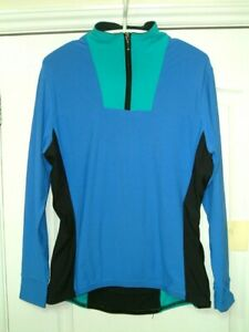 """PREOWNED: Female Corinne Dennis long sleeve cycling top, 40"""" bust. Free P&P."""