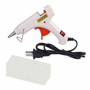 US Hot Melt Glue Gun with 20 Mini Clear Glue Sticks for Arts Craft Dent Repair