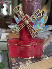 Vintage Moulin Rouge Cognac Decanter, XO Limoges France Windmill Porcelain Flask