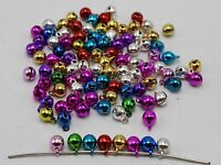 100 JINGLE BELLS~Christmas Mixed Color~Beads Charms 6mm