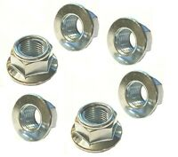 BZP  Metric Fine M10 x 1.25 Smooth Faced Locking Flange Nuts (Packs of 6)