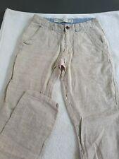 Mens Slim Fit Linen Trousers
