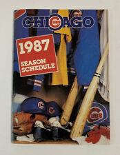 1987 Chicago Cubs MLB Baseball Pocket Schedule Sked Old Style Beer
