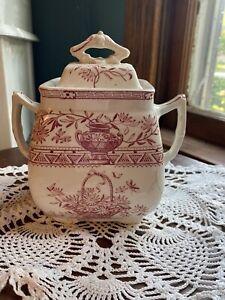 Powell Bishop Stonier Honfluer 19th Century Sugar dish With Lid