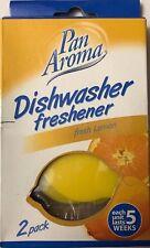 Pan Aroma Dishwasher Freshener Lemon Shaped/Lemon Scent 1 unit lasts 5 Weeks 2pk