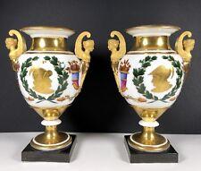Paar Empire Porzellan Vasen Paris 1820 gilt gold Roman solider /Sotheby's