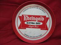 VINTAGE RHEINGOLD EXTRA DRY LAGER BEER METAL SERVING TRAY
