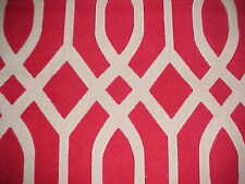 Darjeeling Express String Theory India Red Cotton Geometric Print Floor Rug New