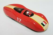 SCHYLLING Red Metal Toy Race Car ITALIAN FLAG #17 Friction Makes Sparks
