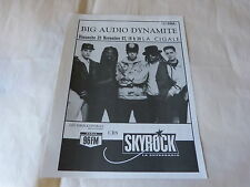 BIG AUDIO DYNAMITE - CLASH - Publicité de magazine / Advert LA CIGALE !!!!!!!!!
