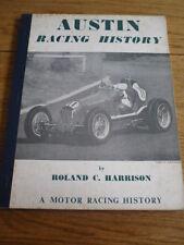 AUSTIN RACING HISTORY - MRP, MOTOR RACING BOOK