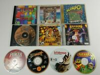 Lot of 10 PC CD-ROM Games Tetris, Rayman, Pac-Man, Slingo, Poker, In Fisherman