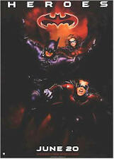 BATMAN & ROBIN MOVIE POSTER ~ HEROES 27x39 George Clooney Chris O'Donnell