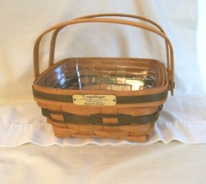 Longaberger 1993 Christmas Bayberry Basket Green W/ Protector