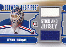 12-13 ITG Henrik Lundqvist /19 Stick And Jersey Between The Pipes 2012