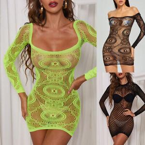 Women Sexy Lingerie Nightdress Mini Dress Sissy Babydoll Sleepwear Underwear UK