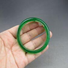 """55mm Certified Grade """"A"""" Natural Green Jadeite Jade Gems Bangle Bracelet V563"""