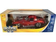 WOW EXTREMELY RARE Chevrolet Corvette Sting Ray 1963 Red met w/ Blower 1:18 Jada